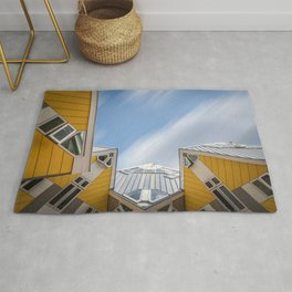 Cube houses in Rotterdam Rug