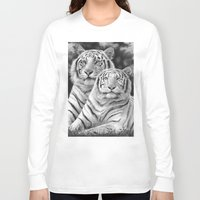 tigers Long Sleeve T-shirts featuring Two Tigers by Thubakabra