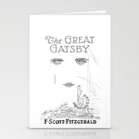 gatsby Stationery Cards featuring The Great Gatsby by S. L. Fina