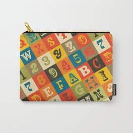 VINTAGE ALPHABET Carry-All Pouch