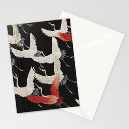 Furisode with a Myriad of Flying Cranes (Japan) Stationery Cards
