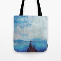 sleep Tote Bags featuring Sleep by  Maʁϟ