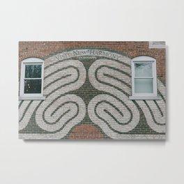 Labyrinth Mural - New Harmony, Indiana Metal Print