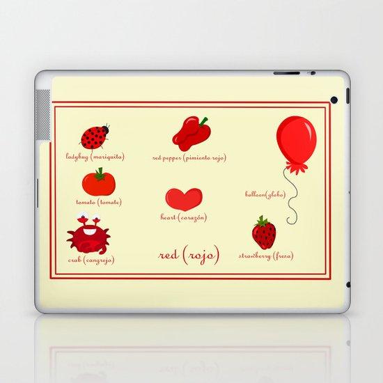 Colors: red (los colores: rojo) Laptop & iPad Skin