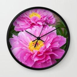 Magenta Peonies by Teresa Thompson Wall Clock