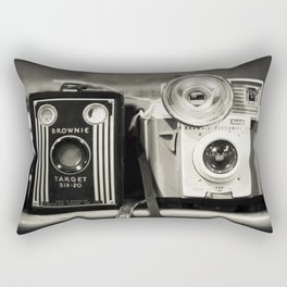 A pair of Kodak Brownies Rectangular Pillow