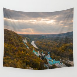 Holy Mountains Monastery (Ukraine) Wall Tapestry