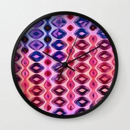 Vertical Diamonds Pink to Purple Wall Clock