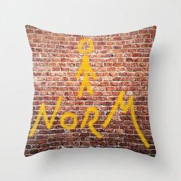 Above Normal Throw Pillow