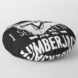 Lumberjack ax forest woodwork Floor Pillow