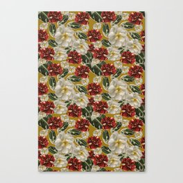Veggie pattern of pomegranate fruits Canvas Print