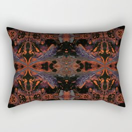 Psycho - Spooky Halloween Orange and Black Theme by annmariescreations Rectangular Pillow