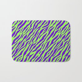 Vintage Retro 1980s 80s New Wave Zebra Stripe Pattern Bath Mat