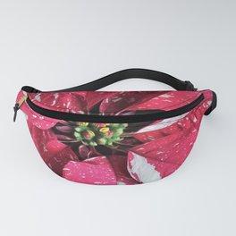 Festive Poinsettia Fanny Pack