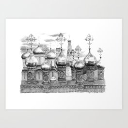 Moscow Kremlin Cupolas G2009-048 Art Print