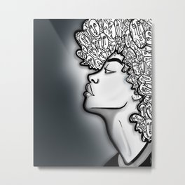 In the face of Metal Print