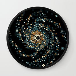 Pinwheel Galaxy M101 (8bit) Wall Clock