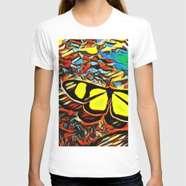 Butterfly, colorful butterfly, watercolor, color splash butterfly T-shirt