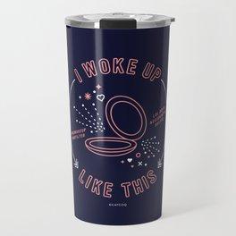 I Woke Up Like This – Blush & Denim Palette Travel Mug