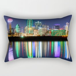 A very colorful Dallas Skyline with an impressive reflection Rectangular Pillow