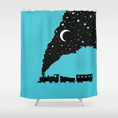 the night train Shower Curtain
