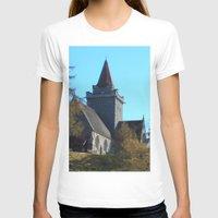 scotland T-shirts featuring Crathie Church, Balmoral, Scotland by Phil Smyth