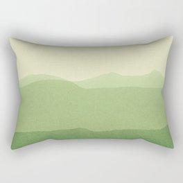 gradient landscape green Rectangular Pillow