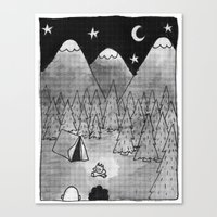 camping Canvas Prints featuring Camping. by Caleb Boyles