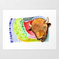 buffalo Art Prints featuring BUFFALO by dorc