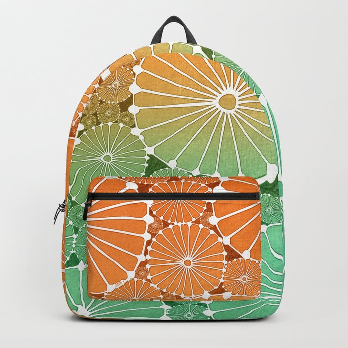 Abstract Floral Circles 7 Backpack