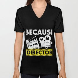 Director T Shirt Movie Themed Gift Unisex V-Neck