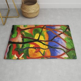 """Franz Marc """"Weasels At Play"""" Rug"""