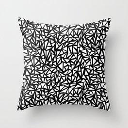 Try Me - memphis modern black and white minimal angular geometric triangle fun 1980s retro Throw Pillow