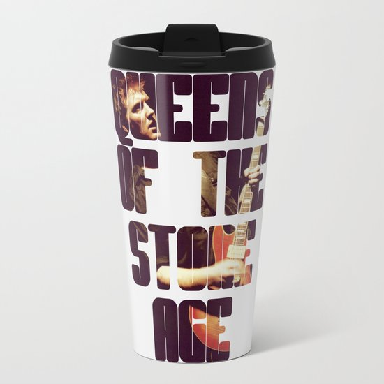 Queens Of The Stone Age QOTSA Font Josh Homme Guitar Metal Travel Mug