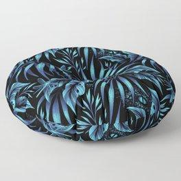 Jurassic Jungle - Petrol Blue Floor Pillow