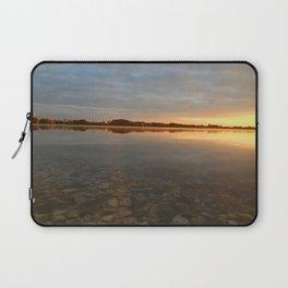 Sunrise at autumn lake Laptop Sleeve