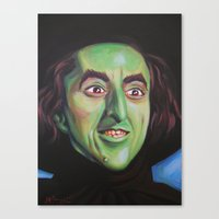 wicked Canvas Prints featuring Wicked by Hillary White