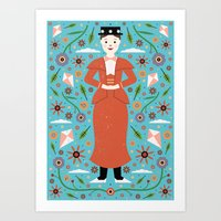 mary poppins Art Prints featuring Mary Poppins by Carly Watts