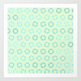 RING FLOAT PATTERN Art Print