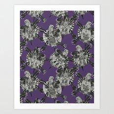 turtle party violet Art Print