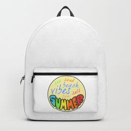 Summer Vibes, Beach sticker, summer sticker, summer t shirt Backpack