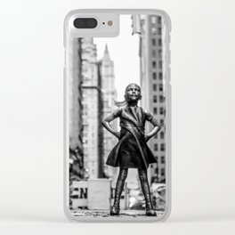 Fearless Girl New York City Clear iPhone Case