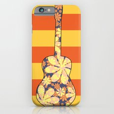 Floral guitar and stripes Slim Case iPhone 6s