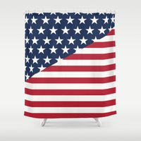 flag Shower Curtains featuring Flag by dani