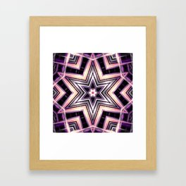 Kaleidoscope Super Star Print Framed Art Print