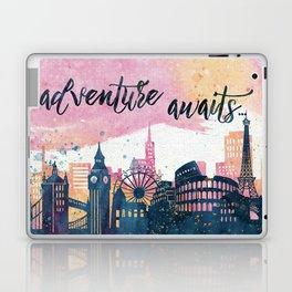 Adventure Awaits Watercolor Laptop & iPad Skin