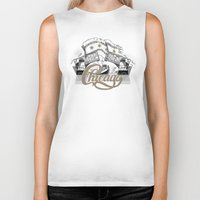 chicago Biker Tanks featuring Chicago by pakowacz