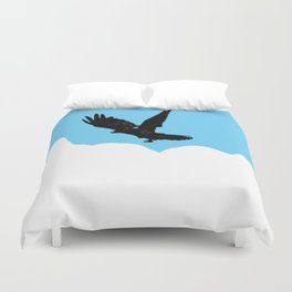 Crow Above the Clouds Duvet Cover