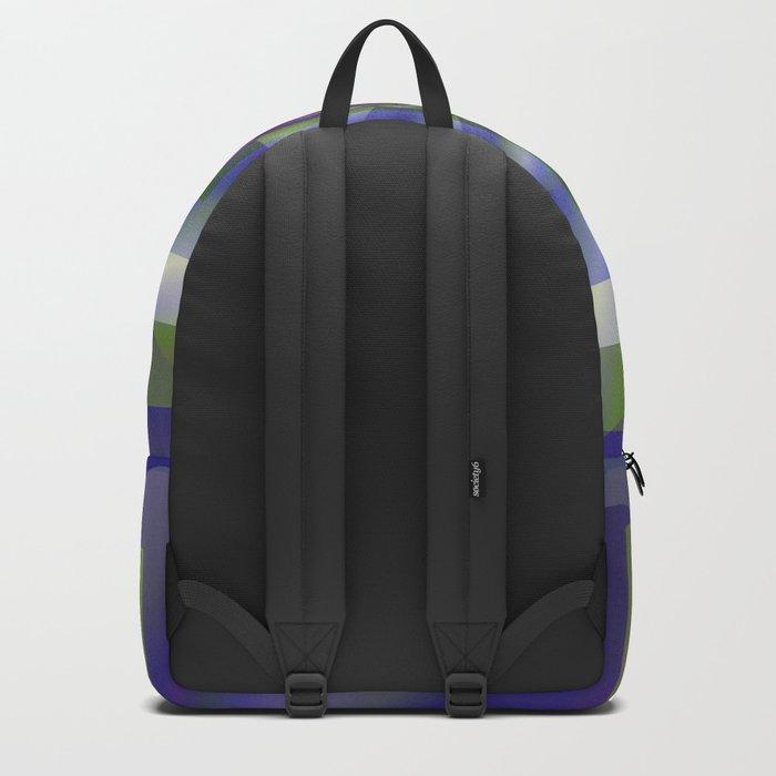 Blue Green Swirl Backpack