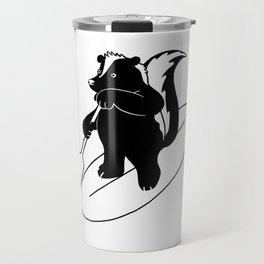 Animal Urbanites: Skunk on Paddle Board Travel Mug